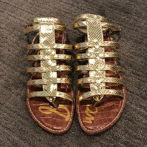 Gold Sam Edelman Gladiator Sandals
